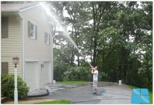 Residential Exterior Building Cleaning