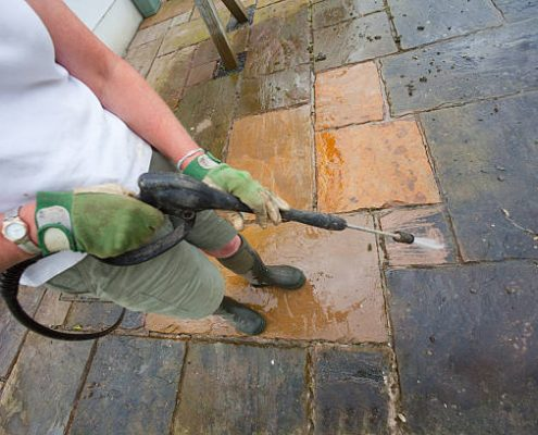 storefront pavement cleaning